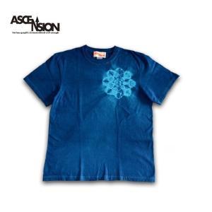 曼荼羅 藍染め Tシャツ ASCENSION(アセンション)インディゴTシャツ 藍染めTシャツ as-775|juice16