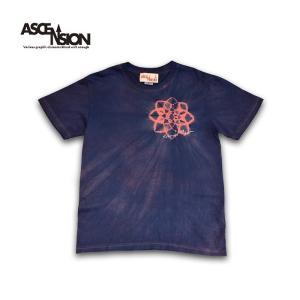 曼荼羅 藍染め Tシャツ ASCENSION(アセンション)インディゴTシャツ 藍染めTシャツ as-777|juice16