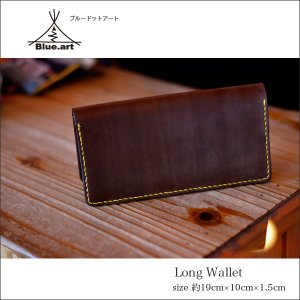 BLUE.art(ブルードットアート)Natural leather long wallet (ロングウォレット) material / Original Dye Leather ba-018|juice16
