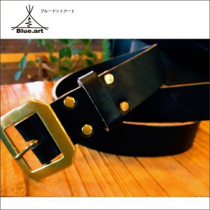 BLUE.art(ブルードットアート)leather belt [Black] ba-035|juice16