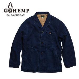 GO HEMP(ゴーヘンプ)MELLOW JACKET/INDIGO SASHIKO  gh-010|juice16
