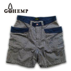 GOHEMP(ゴーヘンプ)VENDOR SHORTS/ H/C HICKORY STRIPE 【ONE WASH】gh-012|juice16