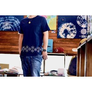 GO HEMP(ゴーヘンプ)麻柄刺繍 半袖Tシャツ  gh-032|juice16