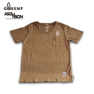 GOHEMP(ゴーヘンプ)HEMP TEE (GO HEMP ボディー仕様)ASCENSION (アセンション) 「ASA NO HA」&「HAND」graphic  gh-077|juice16