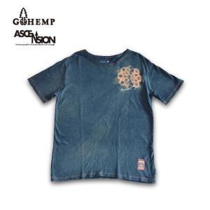 GOHEMP(ゴーヘンプ)HEMP TEE (GO HEMP ボディー仕様)ASCENSION (アセンション) Indigo(藍染め)× 曼荼羅Tiedye  gh-079|juice16