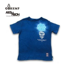 GOHEMP(ゴーヘンプ)HEMP TEE (GO HEMP ボディー仕様)ASCENSION (アセンション) Indigo(藍染め)× 曼荼羅Tiedye  gh-081|juice16