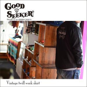 GOOD SEEKER(グッドシーカー)Vintage twill work shirt (ヴィンテージツイルワークシャツ)【THE HAG】 gs-005 juice16