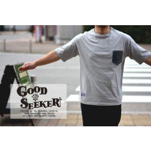 GOOD SEEKER(グッドシーカー)Big cilhouette denim pocket tee  gs-012 juice16