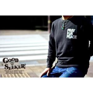 GOOD SEEKER(グッドシーカー)Vintage crew neck sweat【PRAY FOR PEACE】 ヴィンテージクルーネックスウェットgs-018 juice16