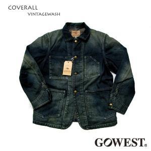 GO WEST(ゴーウエスト)COVERALL VINTAGEWASH gw-003|juice16