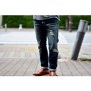 GO WEST(ゴーウェスト)TAPERED FITS PANTS/12oz SELVEDGE DENIM STRETCH/REMAKE gw-009|juice16