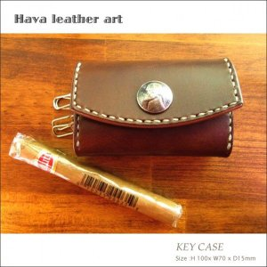 Hava Leather Art (ハバ レザーアート)KEY CASE(キーケース)[Saddle leather:Choco] hav-002|juice16