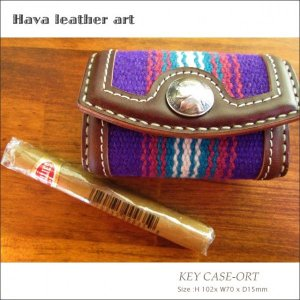 Hava Leather Art (ハバ レザーアート)KEY CASE-ORT(キーケース)[Saddle leather:Choco/ORTEGA'S] hav-003|juice16