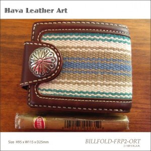 Hava Leather Art (ハバ レザーアート)BILLFOLD-FRP2-ORT(二つ折り札入れ)[Saddle leather :Choco/ORTEGA'S] hav-005|juice16