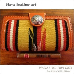 Hava Leather Art (ハバ レザーアート)WALLET -WL- FRP2-ORT2(二つ折り札入れ)[Saddle leather :Brown/ORTEGA'S] hav-008|juice16