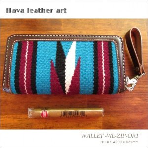 Hava Leather Art (ハバ レザーアート)WALLET -WL-ZIP-ORT [Saddle leather :Choco/ORTEGA'S] hav-012|juice16