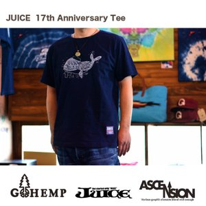 GOHEMP(ゴーヘンプ) × JUICE(ジュース)WネームTEE    JUICE17th 記念Tシャツ 数量限定  ju-066|juice16