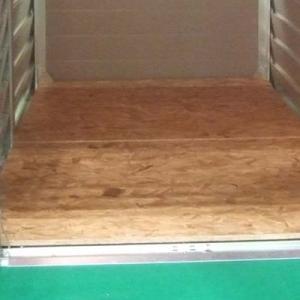 [送料込み対象外] 屋外収納庫・バイクガレージ メタルシェッドオプション ウッドフロア(TM2用)