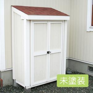 屋外 コンパクトサイズの小型木製物置 スモールハウス:ルレオ未塗装(送料別)|juicygarden