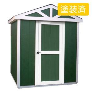 屋外 北欧風デザイン木製物置 スモールハウス:ファールン塗装済み(送料別)|juicygarden