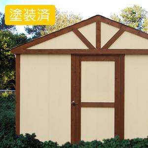 屋外 北欧風デザイン木製物置 スモールハウス:シェレフテオ塗装済(送料別)|juicygarden