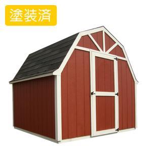 屋外 北欧風デザイン木製物置 スモールハウス:ラハティ塗装済(送料別)|juicygarden