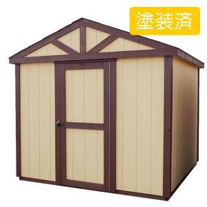 屋外 北欧風デザイン木製物置 スモールハウス:カルマル塗装済(送料別)|juicygarden