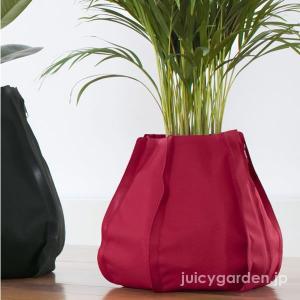 インテリア 鉢 室内 プランター 布鉢  水受け不要  観葉植物 「ファブリックプランター Mサイズ」 水量計付き 布製植木鉢|juicygarden