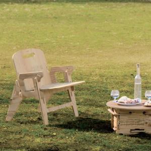 組み立て式 建材 木製 インテリア ガーデン アウトドア グランピング 椅子 チェア 「YOKA パネルファニチャーシリーズ YOKA CHAIR」[送料無料]|juicygarden