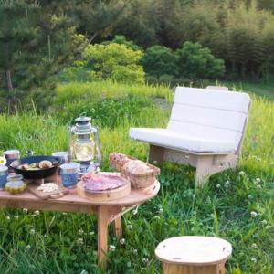 組み立て式 シングルソファ 椅子 建材 木製 インテリア アウトドア グランピング 「YOKA パネルファニチャーシリーズ PANEL SOFA」[送料無料]|juicygarden
