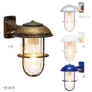 外灯 門灯 「真鍮ガーデンライト カラーフレーム&クリアガラス BR5000-COLOR-CL」 juicygarden