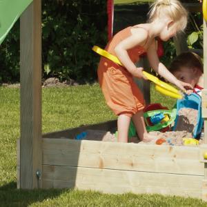 DIY 屋外 木製 家庭用遊具作成用パーツ 「はらっぱギャング はらっぱBASEオプション 砂場囲い...