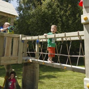 DIY 屋外 木製 家庭用遊具連結用パーツ 橋 「はらっぱギャング はらっぱBASEオプション ブリ...