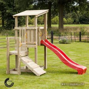 遊具 外遊び 家庭用遊具 カスケード やぐら すべり台 木材セット「はらっぱギャング CASCADE...
