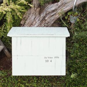 ポスト おしゃれ 手作り 木製 郵便ポスト 郵便受け 壁掛け アンティーク調 レトロ風 シャビーシックな木製郵便ポスト 「Souffle スフレ」|juicygarden
