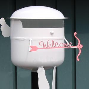 郵便ポスト 置き型 表札 スタンド ポスト  郵便受け  据え置き  表札付き:チビポス エンジェル 天使|juicygarden