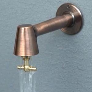 衛生水栓 蛇口 水栓 キッチン トイレ レトロ 横水栓 カラン「衛生水栓 ブロンズ色」|juicygarden