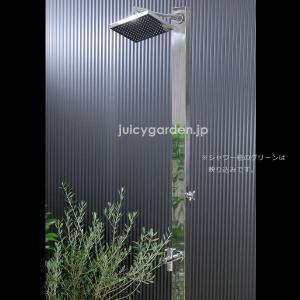 シャワー水栓柱 スクエアロング608G (鏡面仕上げ) 蛇口付き juicygarden