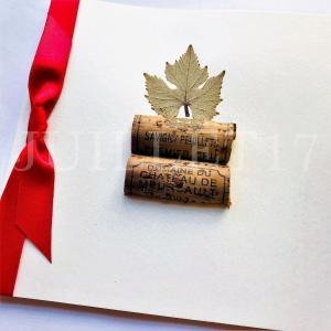 メッセージカード おしゃれ 寄せ書き 面白い  手作り ワイン好きの方へ Siga-Art シガ・アート|juillet17