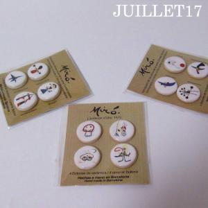 Joan Miro ジョアン・ミロ ボタン 手芸  4個セット|juillet17