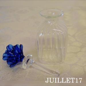 ムラーノガラス 香水瓶S ブルーフラワー|juillet17