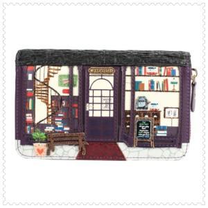 ベンデューラ 財布 ロンドン 長財布 ブランド ラウンドファスナー レディース ブックショップ Vendula Book Shop Medium Ziparound Wallet|juillet17