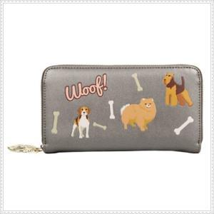 ベンデューラ 財布 ロンドン 長財布 ブランド ラウンドファスナー レディース  ドッグワールド Vendula Dog World Zip Around Wallet|juillet17