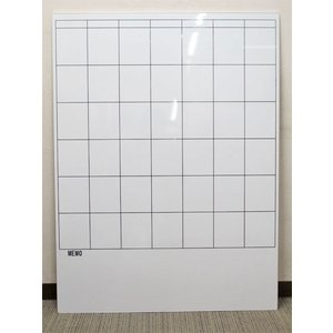 ホワイトボード 片面 壁掛け マス目【中古】|juke-store