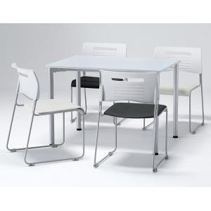 4人用 会議セット ミーティングセット テーブル・チェアセット W1000×D700×H700 会議テーブル ミーティングテーブル チェア6色あり|juke-store