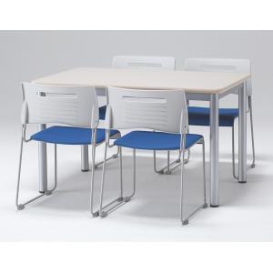 4人用 会議セット ミーティングセット テーブル・チェアセット W1200×D750×H700 会議テーブル ミーティングテーブル テーブル2色・チェア6色あり|juke-store