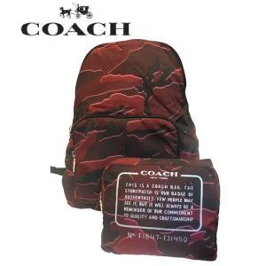 880e68232bb1 コーチ COACH メンズ mens ショルダーバッグ バックパック カモフラージュ 折り畳み式 F31450 バーガンディマルチ コーチアウトレット即納  送料無料