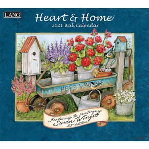 2021 LANGラングカレンダー  Heart & Home ハート&ホーム