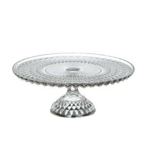 ガラスケーキスタンド サイズ:直径30×高さ11.5cm 材質:ガラス ※製造工程で気泡やリサイクル...
