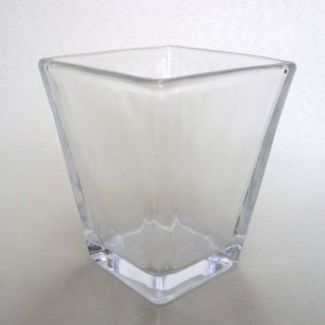 スクエアグラスの鉢 観葉植物/ハイドロカルチャー/水耕栽培/インテリアグリーン|julli